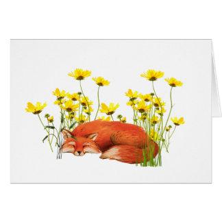 Cartão Fox toda a ocasião Notecard