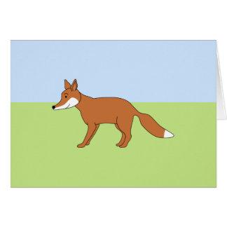 Cartão Fox. vermelho