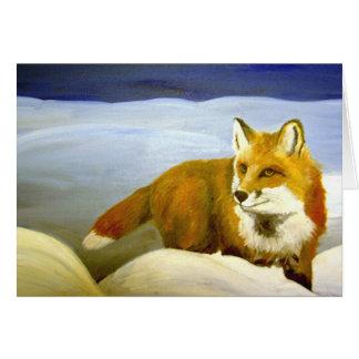 Cartão Fox vermelho