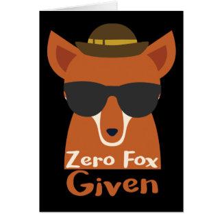 Cartão Fox zero dado