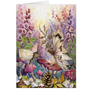 Cartão Foxglove carmesim