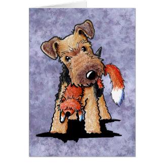 Cartão Foxy de galês Terrier