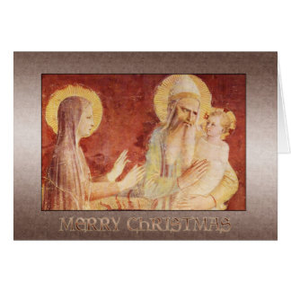 Cartão Fra Angelico Madonna e criança