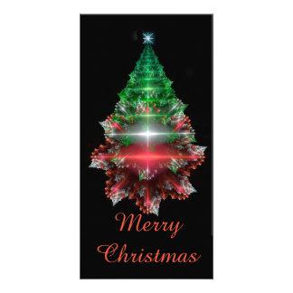 """Cartão Fractal """"árvore de Natal de cristal """""""