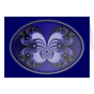 Cartão Fractal azul 200706070030 da borboleta