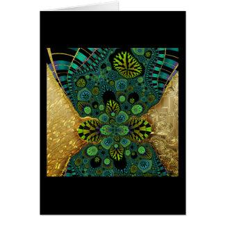 Cartão Fractal dourado #5