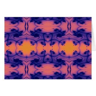 Cartão fractal peachy