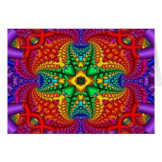 Cartão Fractal psicadélico do arco-íris