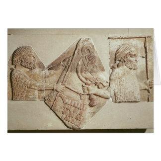 Cartão Fragmento do tributários medianos de descrição