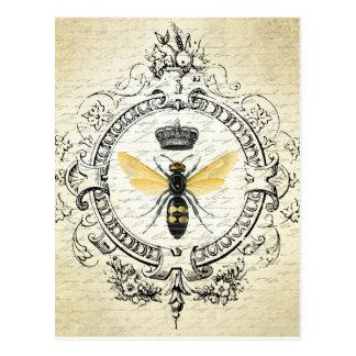 Cartão francês da abelha do vintage