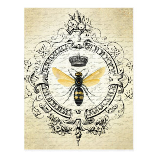 Cartão francês da abelha do vintage cartão postal