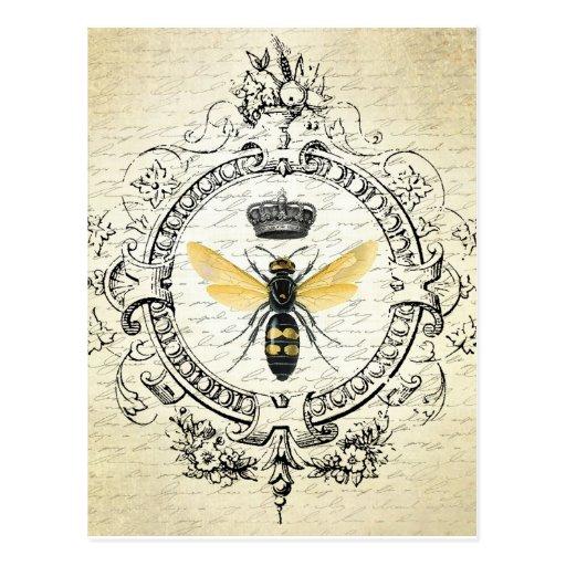 Cartão francês da abelha do vintage cartoes postais