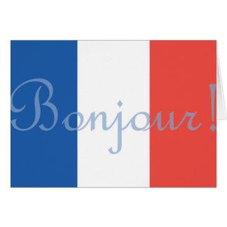 Cartão francês da bandeira
