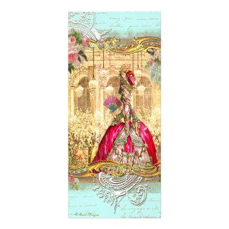 Cartão francês da cremalheira de Versalhes do part Panfleto Informativo Personalizado