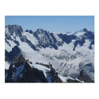 Cartão francês de Chamonix dos cumes