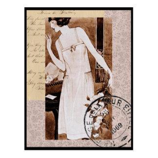 Cartão francês do estilo do vintage romântico cartão postal