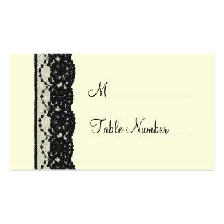 Cartão francês do lugar do laço (marfim) cartão de visita