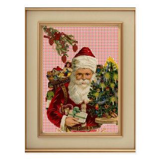 Cartão francês do Natal do país da casa de campo