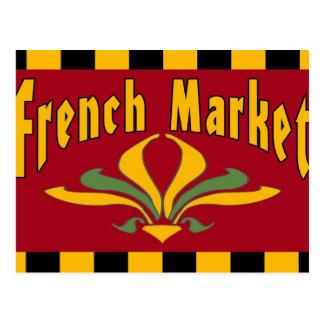 Cartão francês do sinal do mercado