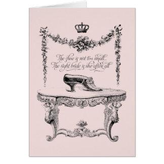 Cartão francês dos calçados