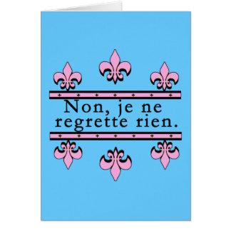 Cartão Francês nenhuns produtos dos pesares