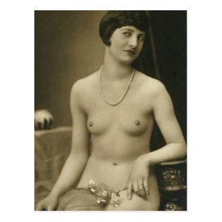 Cartão franceses da foto do Boudoir