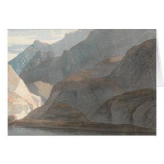Cartão Francis Towne - no lago de Como