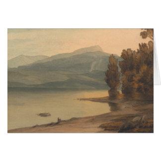 Cartão Francis Towne - Windermere no por do sol