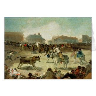 Cartão Francisco Jose de Goya   um Bullfight da vila