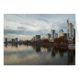 Cartão Francoforte - am - skyline principal