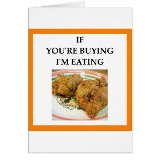 Cartão frango frito