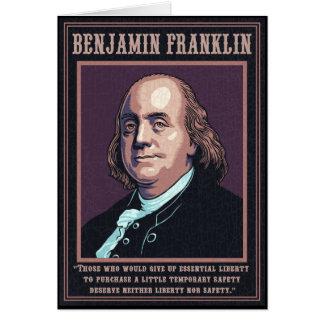 Cartão Franklin - liberdade