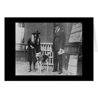 Cartão Franklin Roosevelt na exposição de cães 1920