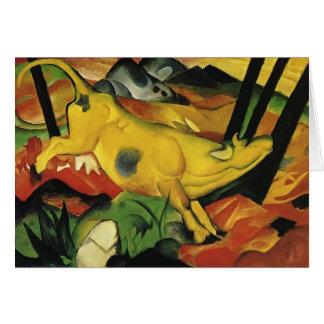 Cartão Franz Marc a vaca amarela
