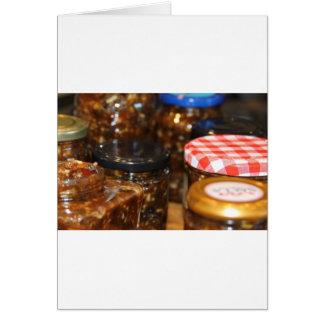 Cartão Frascos do mincemeat