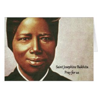 Cartão Freira do escravo de Josephine Bakhita do santo
