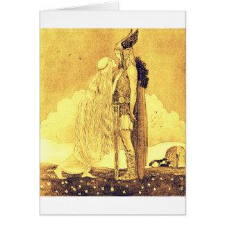 Cartão Freja e Svipdag por John Bauer
