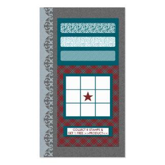 cartão freqüente do comprador do teste padrão cartão de visita