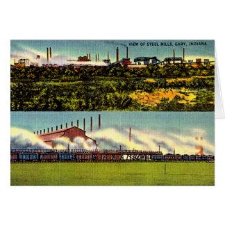 Cartão Fresas de aço 1930 de Gary, Indiana