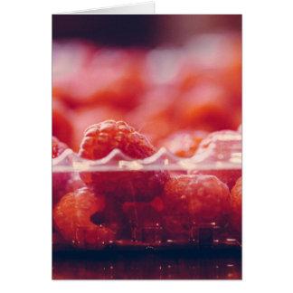 Cartão fresco da arte da fotografia das framboesas