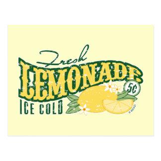 Cartão fresco da limonada