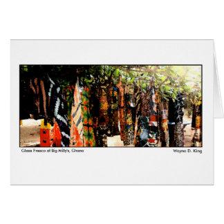 Cartão Fresco de vidro em Millys grande, Ghana
