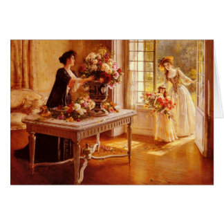 Cartão Fresco do jardim, vintage floral, VIctorian