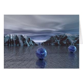 Cartão Frio azul