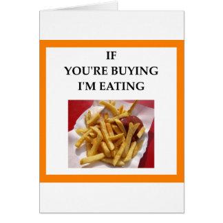 Cartão fritadas