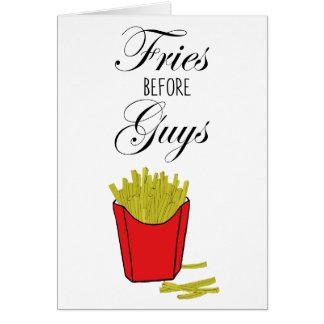 Cartão Fritadas antes das caras