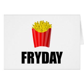 Cartão Fritadas de Fryday sexta-feira