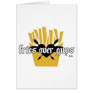 Cartão Fritadas sobre o slogan das caras