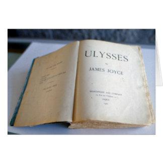 "Cartão Frontispiece de ""Ulysses"" por James Joyce"