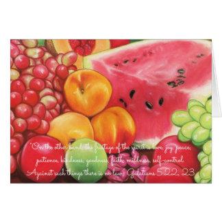 Cartão Fruitage de Pastels da fruta do ~ da escritura do